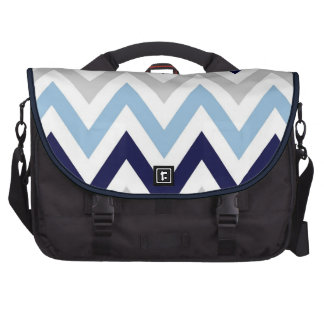 Navy,Light Blue,Gray and White Zigags Commuter Bag