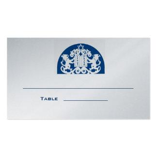 Navy Lions Bar Mitzvah Place Card Business Card Templates