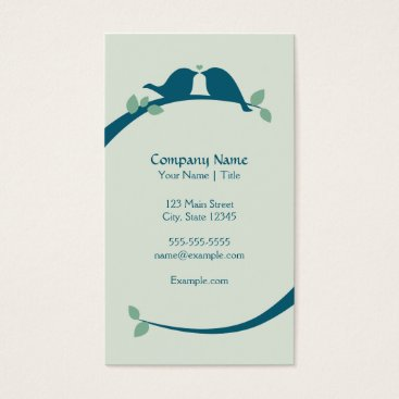 Professional Business Navy Love Birds Business Card