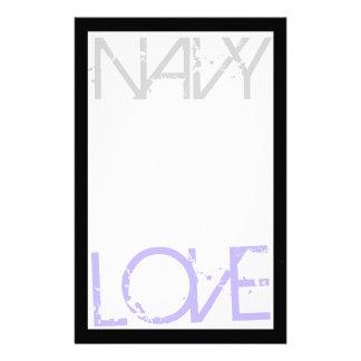 Navy Love Stationary Stationery
