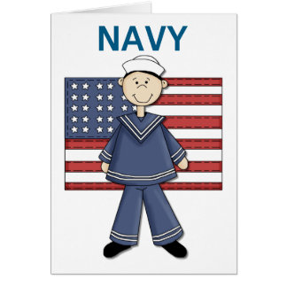 Navy Male Customizable Greeting Card