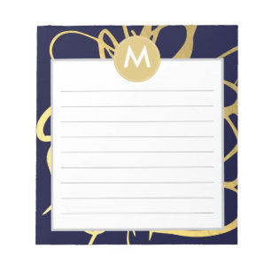 initial notepads zazzle
