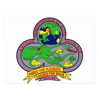 NAVY Mobile Construction Battalion NMCB-12 Militar Postcard