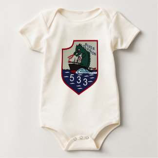 Navy Mobile River Patches Baby Bodysuit