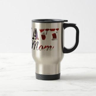 Navy Mom American Flag Travel Mug