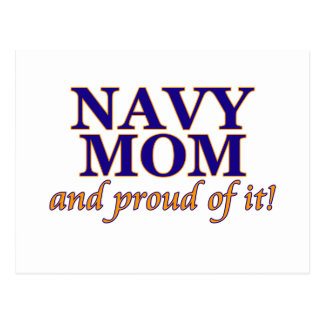 Navy Mom and Proud of It Postcard