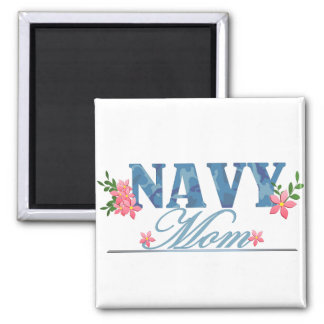 Navy Mom (Cammo) 2 Inch Square Magnet