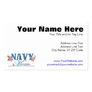 Navy Mom (Cammo) Double-Sided Standard Business Cards (Pack Of 100)