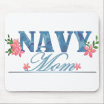 "Navy Mom (Cammo) Mouse Pad<br><div class=""desc"">These t-shirts,  hats,  mugs and gifts feature camouflage and flowers in a sweet &quot;Navy Mom&quot; design. Show your pride in your sailor in style!</div>"