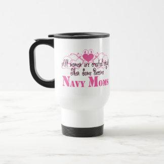 Navy Mom, Created Equal 15 Oz Stainless Steel Travel Mug