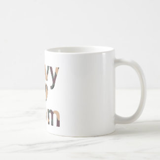 Navy Mom Heart Camo Coffee Mug