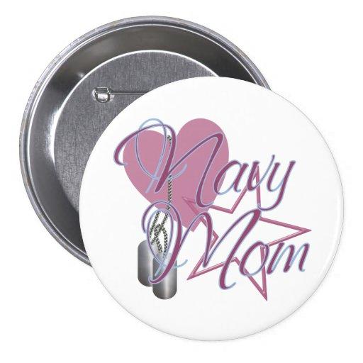 Navy Mom Heart N Star Pins