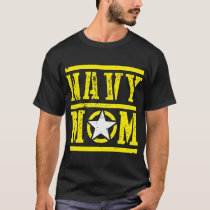 Navy Mom Mother Star Armed Forces Military Patriot T-Shirt