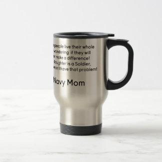 Navy Mom No Problem Daughter Travel Mug