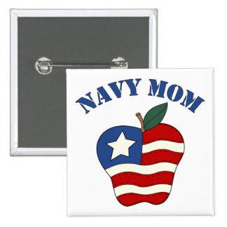 Navy Mom Patriotic Apple Pin