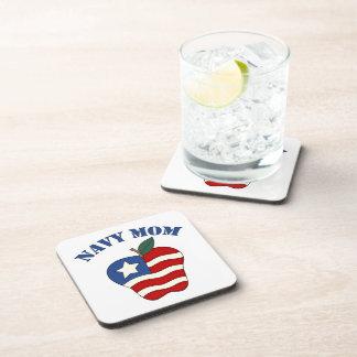 Navy Mom Patriotic Apple Drink Coaster