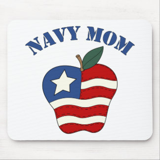 Navy Mom Patriotic Apple Mouse Pad