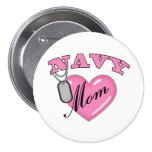 Navy Mom Pink Heart N Dog Tags Buttons