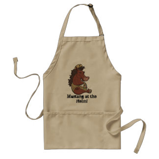 Navy Mustang Adult Apron