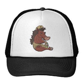 Navy Mustang Trucker Hat