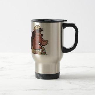 Navy Mustang Travel Mug