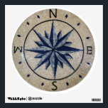 """Navy Nautical Compass North south East West Marble Wall Sticker<br><div class=""""desc"""">Amazing Navy Nautical Compass North south East West Marble Mosaic is hand cut from natural stones.</div>"""