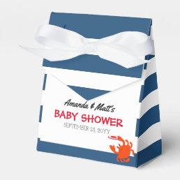 Navy Nautical Crab Baby Shower Favor Box