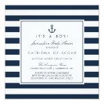 Navy Nautical It's A Boy Baby Shower Invitation at Zazzle