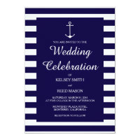 Navy Nautical : Wedding Invitations