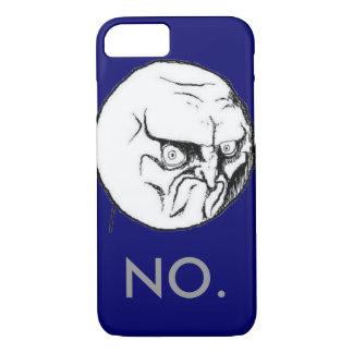 "Navy ""NO."" meme Grey Text Funny iPhone 8/7 Case"