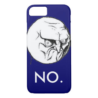 """Navy """"NO."""" meme White Text Funny iPhone 7 Case"""