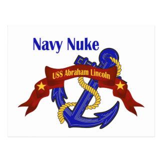 Navy Nuke ~ USS Abraham Lincoln Postcard