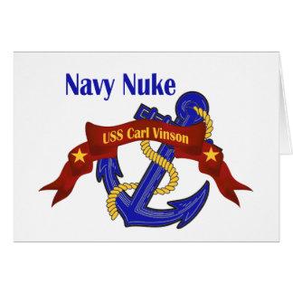 Navy Nuke ~ USS Carl Vinson Card