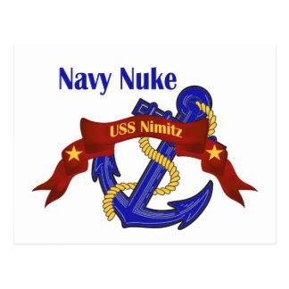 Navy Nuke ~ USS Nimitz Postcard