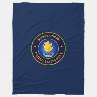 NAVY NURSE CORP FLEECE BLANKET