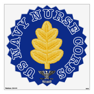 Navy Nurse Corps Captain Retired Wall Decal