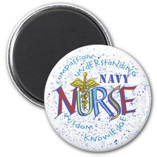 Navy Nurse Motto 2 Inch Round Magnet
