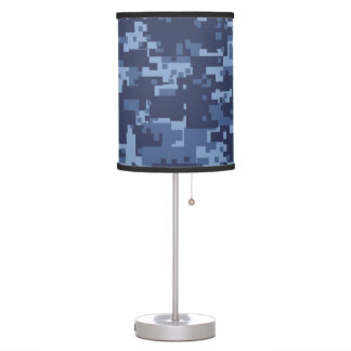 Navy NWU Blue Camouflage Desk Lamp