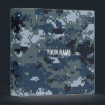 """Navy NWU Camouflage Customizable 3 Ring Binder<br><div class=""""desc"""">The digital camouflage pattern as seen on modern navy soldiers' uniforms.</div>"""