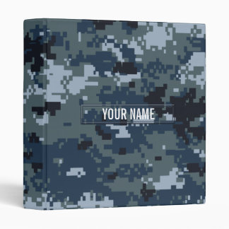 Navy NWU Camouflage Customizable 3 Ring Binder