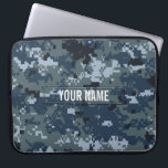 "Navy NWU Camouflage Customizable Computer Sleeve<br><div class=""desc"">The digital camouflage pattern as seen on modern navy soldiers' uniforms.</div>"