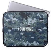 Navy NWU Camouflage Customizable Computer Sleeve