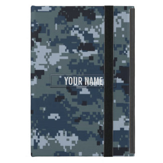 Navy NWU Camouflage Customizable Cover For iPad Mini