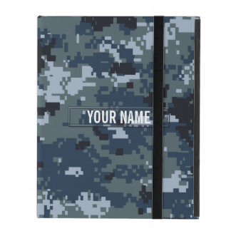 Navy NWU Camouflage Customizable iPad Case
