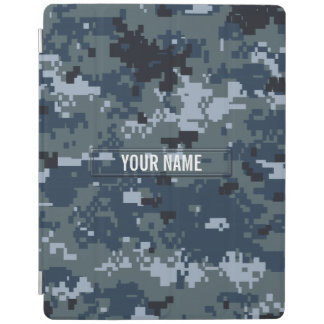 Navy NWU Camouflage Customizable iPad Smart Cover