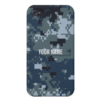 Navy NWU Camouflage Customizable iPhone 4/4S Cases