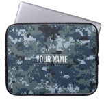 Navy NWU Camouflage Customizable Laptop Computer Sleeve
