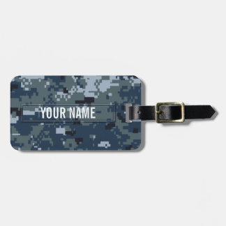 Navy NWU Camouflage Customizable Luggage Tag