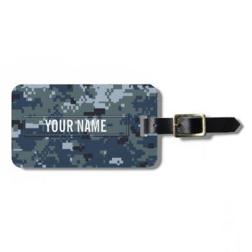 staticnoise Navy NWU Camouflage Customizable Luggage Tag