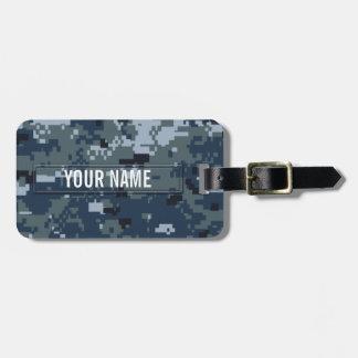 Navy NWU Camouflage Customizable Luggage Tags